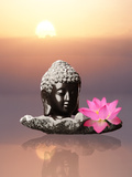 Buddha With Lotus Flower