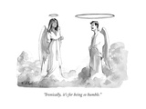 """""""Ironically  it's for being so humble"""" - New Yorker Cartoon"""