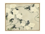 White Flowers with Vines Watercolor
