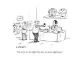 """I'm sorry  sir  but Apple Pay does not mean Apple pays"" - Cartoon"