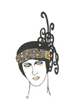 Stylized Headshot of Art Deco Headpiece