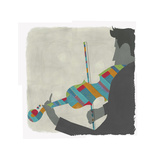 Man Playing Brightly Striped Violin