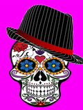 Hipster Skull Pink Style