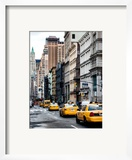 NYC Yellow Taxis / Cabs on Broadway Avenue in Manhattan - New York City - United States - USA