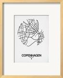 Copenhagen Street Map White