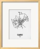 Cairo Street Map White