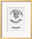 Hong Kong Street Map White