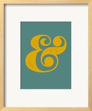 Ampersand Blue and Yellow