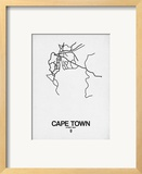Cape Town Street Map White
