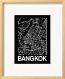 Black Map of Bangkok