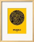 Brussels Street Map Yellow