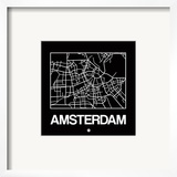 Black Map of Amsterdam