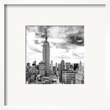 Cityscape Manhattan  Black and White Photography  Empire State Building  Urban Landscape  New York