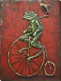 Freewheelin Frog - Dimensional Metal Wall Art