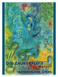 Die Zauberflöte (The Magic Flute)- Mozart- Metropolitan Opera Reproduction d'art par Marc Chagall
