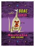Australia - New Zealand - BOAC (British Overseas Airways Corporation) Reproduction d'art par Maurice Laban