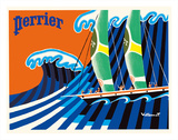 Perrier - The Sailboat - Hokusai The Great Wave