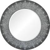 Priya Silver Leaf Mirror