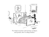 """""""I've looked everywhere under the bed  sweetheart  and I promise  there's …"""" - Cartoon"""
