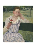 Woman with a Red Zinnia  1891