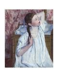 Girl Arranging Her Hair  1886