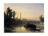 River View in France  Possibly Near Pontoise  1855