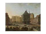 The Dam in Amsterdam  and New Town Hall under Construction  1652-89