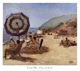 A Day on the Beach I Reproduction d'art par Carme Sala