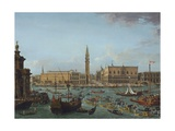 Procession of Gondolas in Bacino Di San Marco  Venice  1742-60