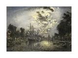 Rotterdam Moonlight  1881  Impressionist