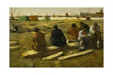 Lunchtime at the Building Site in Amsterdam  1897