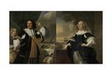 Vice Admiral Aert Van Nes and Geertruida  Den Dubbelde His Wife 1668