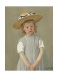 Child in a Straw Hat  1886