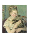 Woman with a Cat  1875