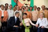 Barack Obama and Hillary Rodham Clinton with Aung San Suu Ky