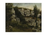 Landscape with Rocky Cliffs and a Waterfall  1872