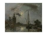 Overschie in the Moonlight  1871
