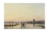 Windmill Beside a Frozen River  1860-62