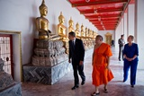 President Barack Obama and Secretary Hillary Clinton Tour Wat Pho Royal Monastery