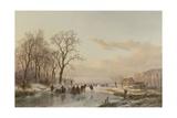 A Frozen Canal Near the River Maas  1867