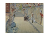 The Rue Mosnier with Flag  1878