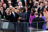 President Barack Obama During the Public Inaugural Swearing-In Ceremony  Jan 21  2013