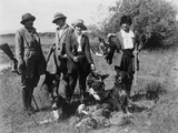 Five Women Hunters Posed with their Guns  Dogs  and Dead Birds  Ca 1920