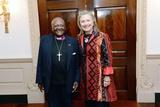 Secretary of State Hillary Rodham Clinton Meets with Archbishop Desmond Tutu