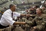 President Barack Obama Greets US Troops at Bagram Air Field  Afghanistan May 1  2012