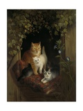 Cat with Kittens  by Henriette Ronner  C 1844
