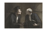 Two Lawyers Shake Hands  C 1840-60