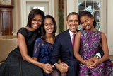 Obama Family Portrait  Dec 11  2011