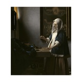 Woman Holding a Balance  C 1664