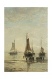 Bluff-Bowed Scheveningen Boats at Anchor  1860-89